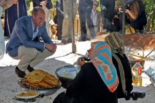 Prince William visits the Princess Taghrid Institute for Development and Training in the province of Ajloun