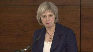 Theresa May at the counter-terrorism conference