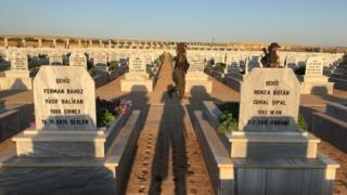 Kobani'de mezarlık