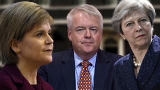 Nicola Sturgeon, Carwyn Jones a Theresa May