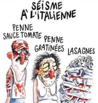 Charlıe Hebdo'nun İtalya depremi karikatürü