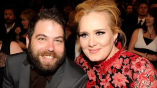 Adele and Simon Konecki at Grammy Awards in 2013