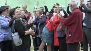 Celebrations after Witney East result