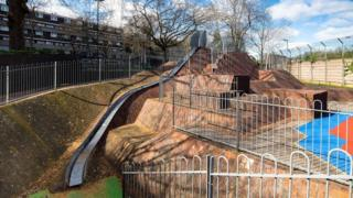 Child's slide, Brunel Estate, London