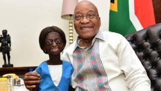 Mlle Phalatse reçue dans le bureau du Président Zuma