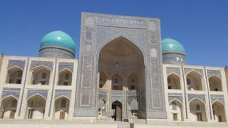 The Mir-i-Arab Madrassa in Bukhara, one of hundreds of holy places and shrines in Uzbekistan attracting pilgrims from home and abroad