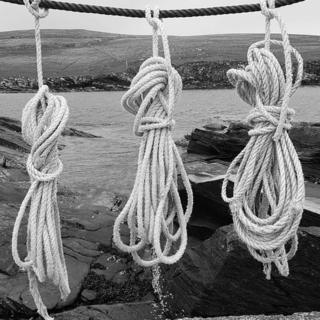 Fisherman's ropes on the Isle of Moussa