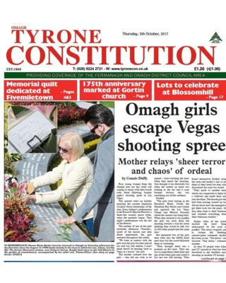 Front page of the Tyrone Constitution