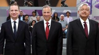 Ricardo Anaya Cortés, José Antonio Meade Kuribreña y Andrés Manuel López Obrador