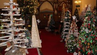 A selection of the trees that were at the festival in Enniskillen