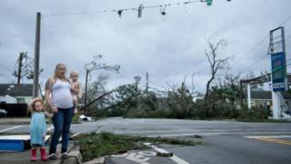 """Huracán Michael: el rastro de destrucción que dejó el devastador impacto del """"infernal"""" ciclón en Florida - BBC News Mundo"""