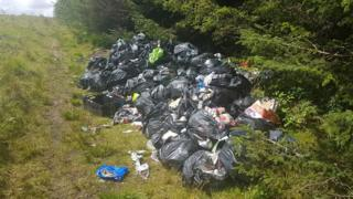 Waste dumped by Ronnie Junior Jones and Luke Samuel Davies