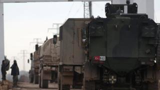 قوات تركية في مدينة الراي السورية