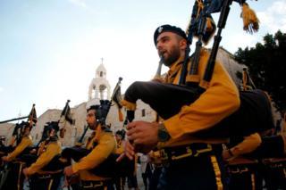 Группа палестинских волынщиков