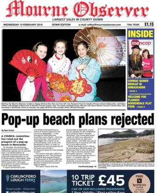 front page Mourne Observer Wednesday 13 February 2019