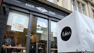 The Ashers Baking Company shop in Belfast city centre