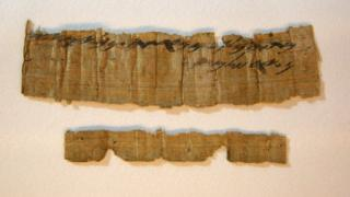 Papyrus believed to be 2,700 years old unveiled by the Israel Antiquities Authority, 26 October 2016