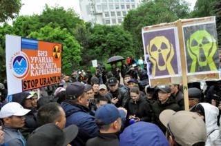 Уран казууга каршы чыккандар. Бишкек шаары 2019-жыл