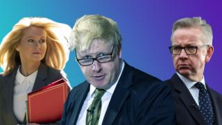 Boris Johnson - Esther McVey - Michael Gove.