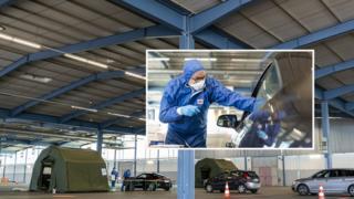 Health supplements fitness Soldiers test people for coronavirus symptoms. March 25, 2020, Saarbruecken Germany