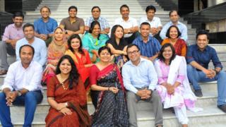 ঢাকায় বিবিসি বাংলা দলের কয়েকজন