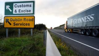 Signs near Irish border