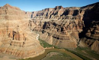 An aerial view near the West Rim of the Grand Canyon November 6, 2008 in Grand Canyon, Arizona.