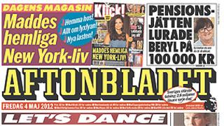 Aftonbladet front page