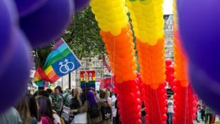 Pride march in London