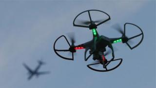 A drone (not this one) has been found by a resident in their garden in Kircubbin