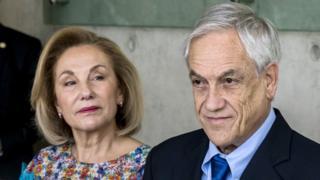 Cecilia Morel y Sebastián Piñera.