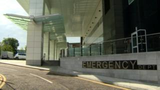 Entrance to the Emergency Department at Belfast's Royal Victoria Hospital