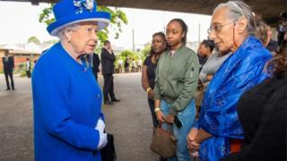 The Queen visiting Grenfell Tower