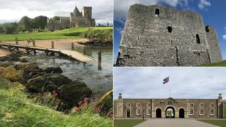 Inchcolm Abbey, Dundonald Castle, Fort George
