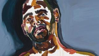 Potret diri terpidana hukuman mati Myuran Sukumaran yang divonis dalam perannya sebagai penyelundup narkoba dalam kelompok yang kemudian dikenal dengan nama Bali Nine.