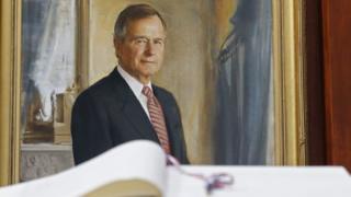 老布什在卸任後隨即訪台,當年在台灣造成轟動。