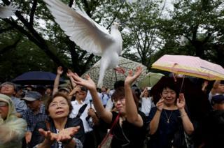 A dove flies into the sky