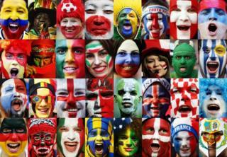Faces of fans