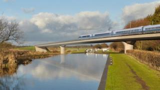 Artist's impression of high speed train