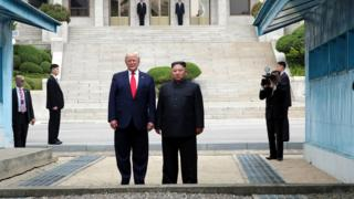 Trump and Kim in DMZ