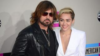 Miley Cyrus with her dad Billy Ray