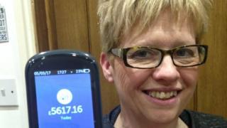 Jane Allen with her smart meter