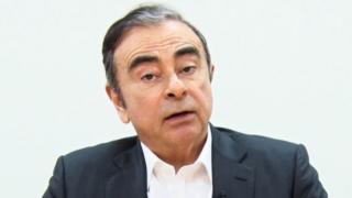 Carlos Ghosn in the video