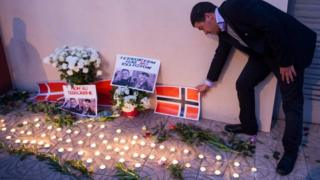 A vigil for two murdered tourists in Morocco