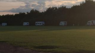 Caravans at Bottisham Village College