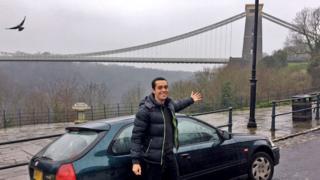 Tom Church by the Bristol suspension bridge