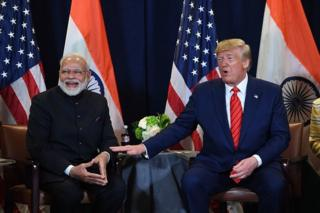 Tech US President Donald Trump and Indian Prime Minister Narendra Modi hold a meeting at UN Headquarters in New York, September 24, 2019