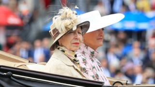 The Princess Royal (left) and Countess of Wessex during day one of Royal Ascot at Ascot Racecourse.