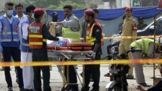 محل حادثه در لاهور