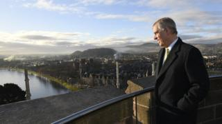 Prince Andrew in the North Tower of Inverness Castle